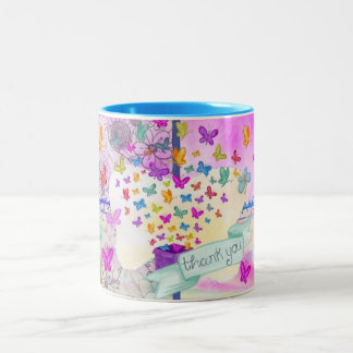 Thank you - Butterfly - Mug