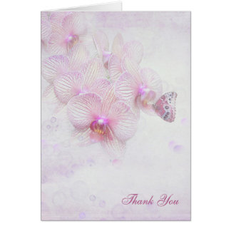 thank you-butterfly on orchid card