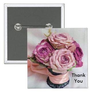 Thank You Button - Wedding Favor