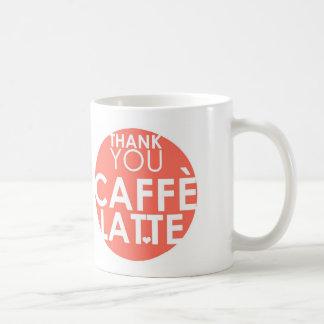 thank you CAFFE LATTE Coffee Mugs