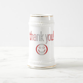 Thank You! Canada Flag Colors Coffee Mug
