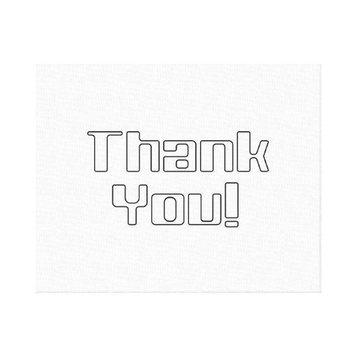 Thank You Canvas Prints
