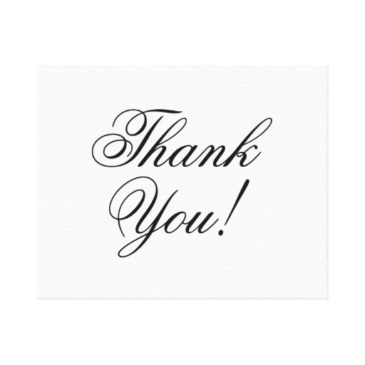 Thank You Stretched Canvas Print