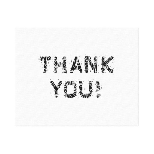 Thank You Gallery Wrapped Canvas