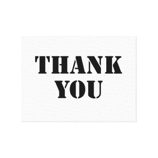Thank You Gallery Wrap Canvas