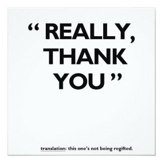 Thank you card! 13 cm x 13 cm square invitation card