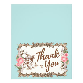 Thank You card -  Alice in wonderland 11.5 Cm X 14 Cm Flyer