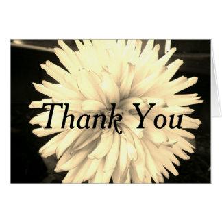 Thank you card black/white floral design