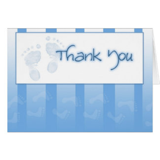 Thank you card - Boy baby shower