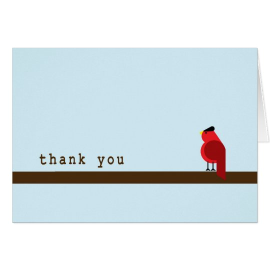 Thank You Card- Cardinal Card