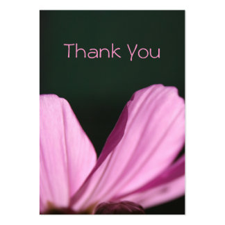 Thank You Card - Comos & Sun - Floral Photography Pack Of Chubby Business Cards
