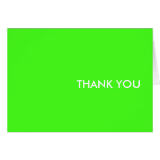 """thank you card--""""electric lime"""" card"""