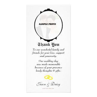 Thank-you Card Engagement Wedding Anniversary Photo Card Template