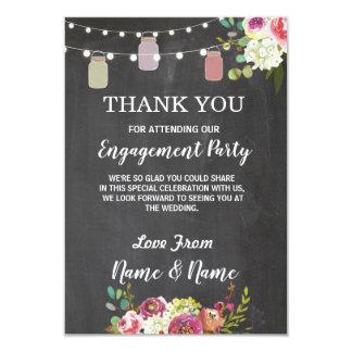 Thank You Card Engagement Wedding Jars Chalk