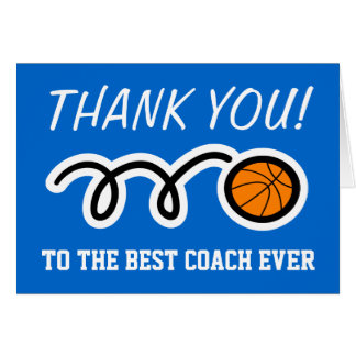 Thank you card for basketball coach | Customizable