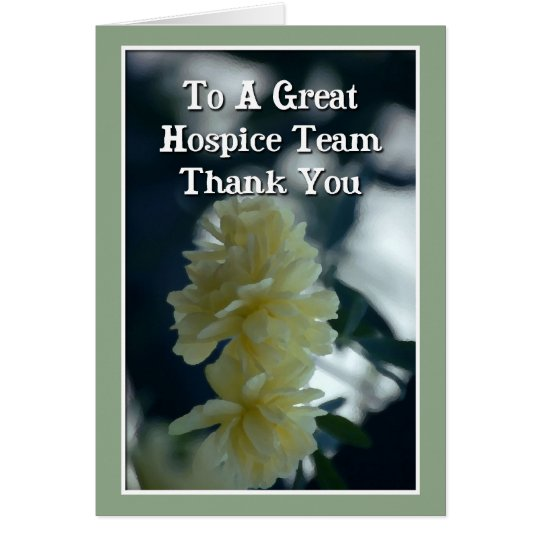Thank You Card For Hospice Team
