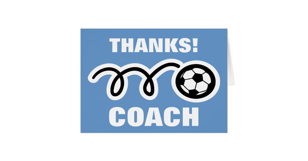 Soccer Coach Thank You Card Zaxatk