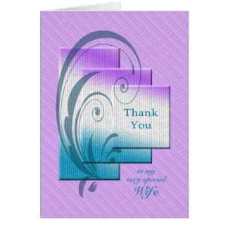 Thank you card for wife, with elegant rectangles