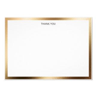 Thank You Card Gold Border