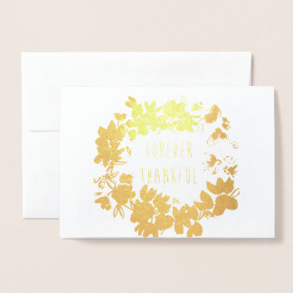 Thank you card gold foil