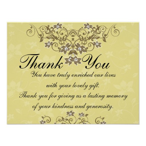 Thank You Card - Gold Wedding Personalized Invitations