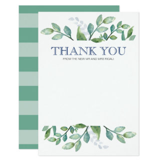 Thank You Card Greenery Suite