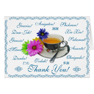 Thank you card in 12 languages