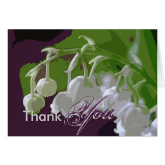 Thank You card, lilly of the valley Card