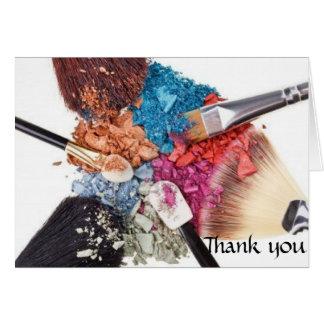 Thank you card - Makeup Artist
