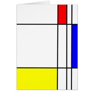 Thank You Card (Mondrian style)