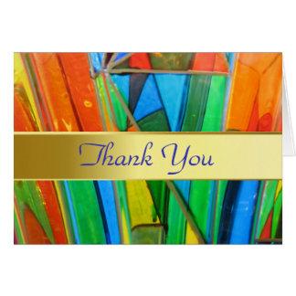 Thank You Card--Murano Glass Orange Card