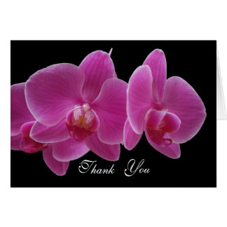 Thank You Card -- Orchids