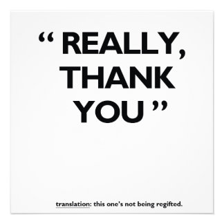 Thank you card personalized announcement