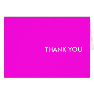 """thank you card--""""pink dice eighties"""" card"""
