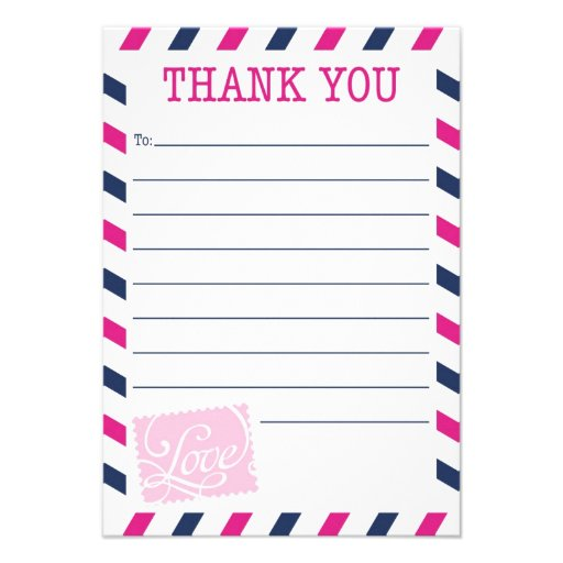 Thank You Card Postal Service Collection Custom Invite