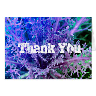 Thank You Card Purple Floral Photo