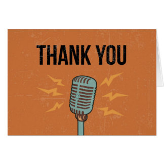 Thank You Card - Retro Microphone Design
