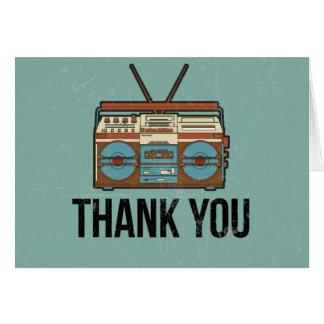 Thank You Card - Retro Radio Design