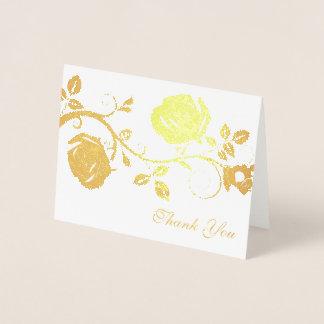 Thank You Card-Rose Vine Foil Card
