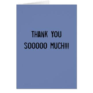 Thank You Card - Sarcastically