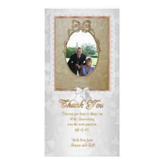 Thank you card special occasion with photo 40th customised photo card