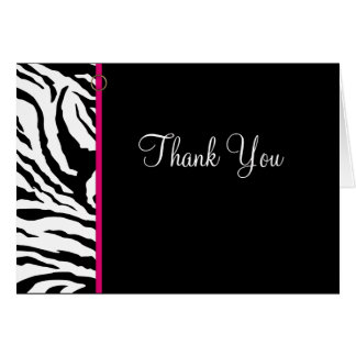 Thank You Card Template ** Bold Zebra Print