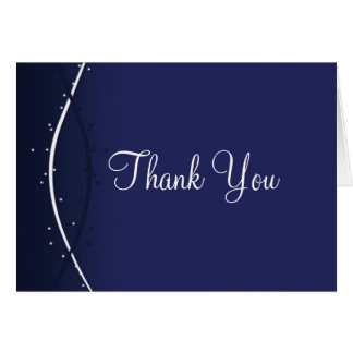 Thank You Card Template **Soft Gradient, Dark Blue