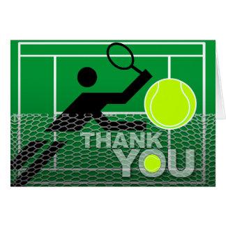 Thank You Card Tennis Player
