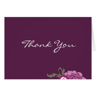 Thank You Card // The Plum Bouquet Collection