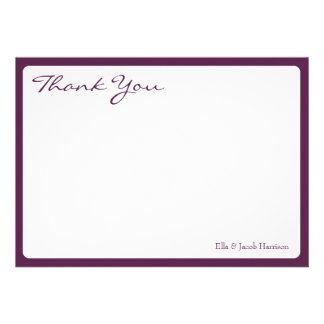 Thank You Card The Plum Bouquet Collection Personalized Announcements