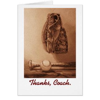 Thank you card to Coach