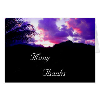 Thank You Card - Tropical Sunset