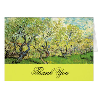 Thank you card, Vincent van Gogh,Orchard in Blosso Greeting Card