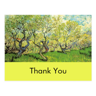 Thank you card, Vincent van Gogh,Orchard in Blosso Postcard